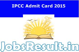 IPCC Admit Card 2015