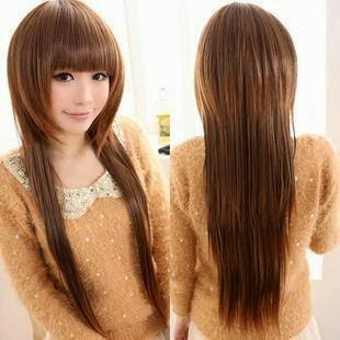 Gaya Rambut Panjang Untuk Wajah Bulat
