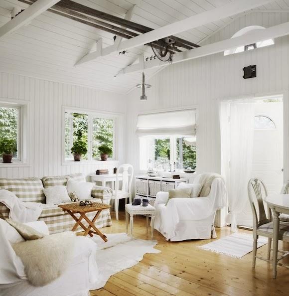 Inspiration shabby lo stile nordico for Arredamento nordico