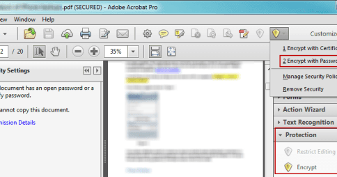 how to create a secure pdf file