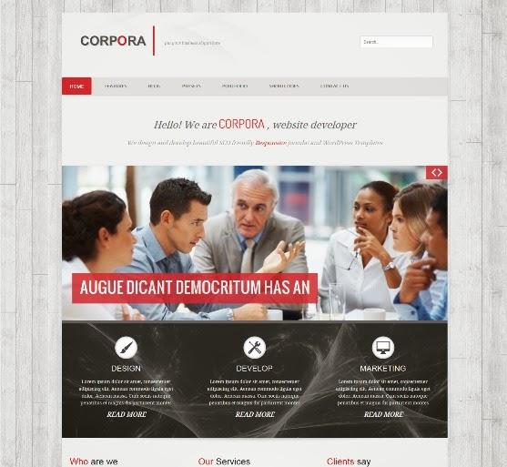 Corpora Clean Responsive Joomla Template