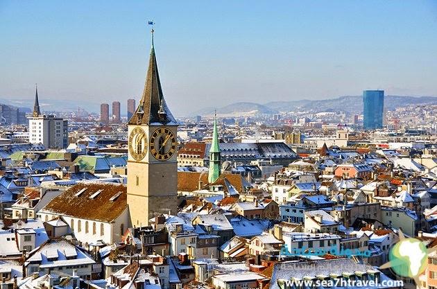معالم المدينة القديمة في زيورخ سويسرا