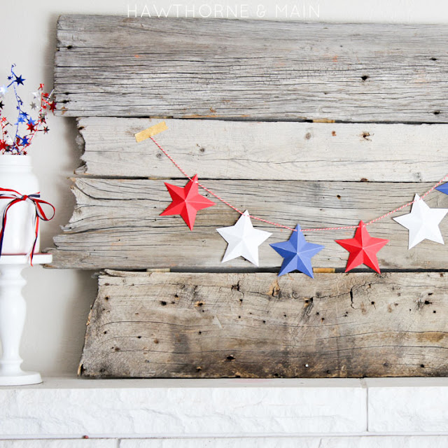 Fourth Of July Decor DIY Ideas at the36thavenue.com Pin it now and decorate later!