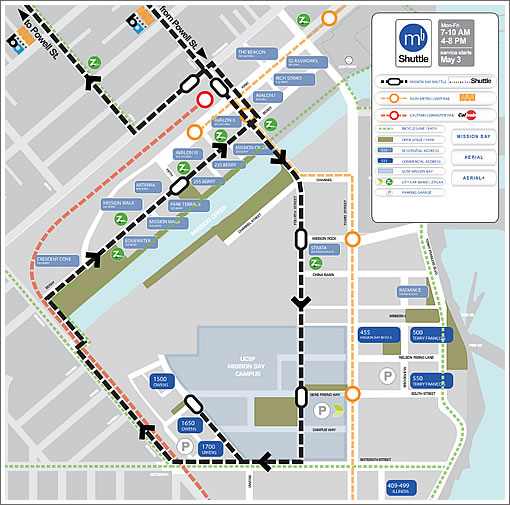 Mission Bay Shuttle map