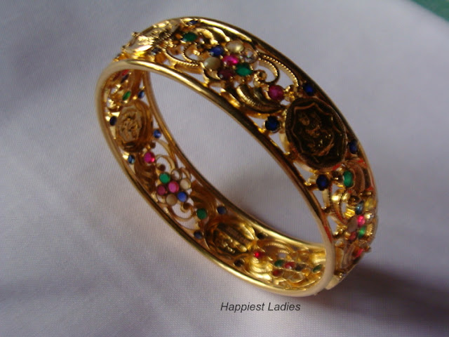 Goddess Lakshmi in Gold Bangle+indian bangles