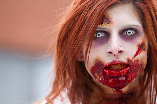 zombie bloddy mouth