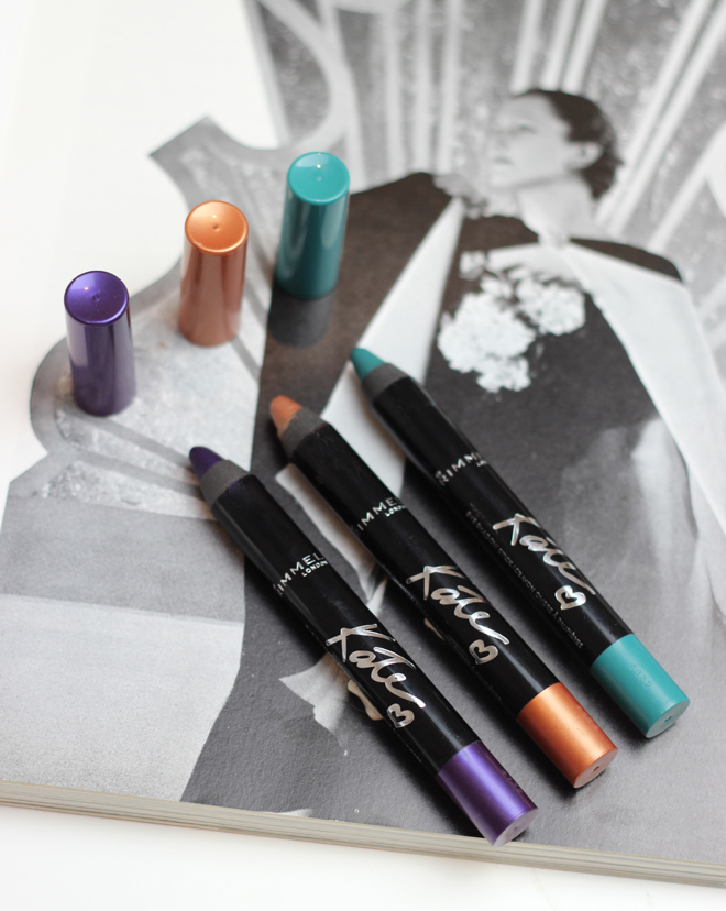 Rimmel Scandaleyes Shadow Stick's by Kate Moss | Rose Gold, Pure Turquoise and Deep Amethyst