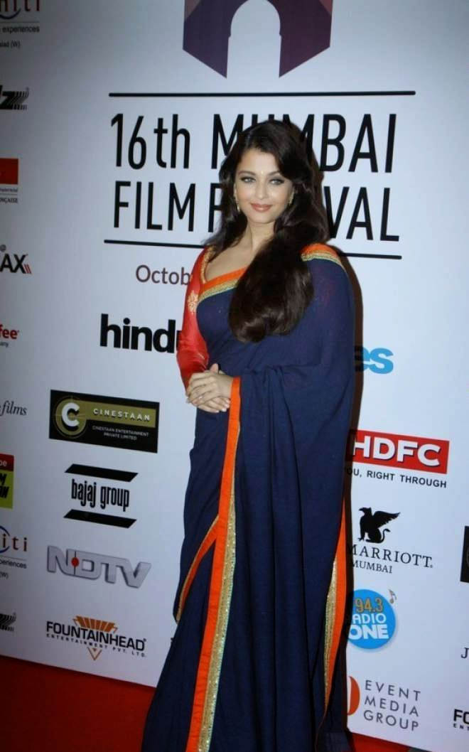 Aishwarya Rai Latest Black Saree Photos