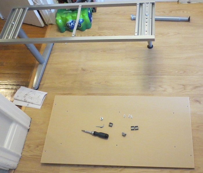 Ikea Galant Glass Desk Review ~ IKEA GALANT Desk A Legs and T Legs Review  InvertedKB