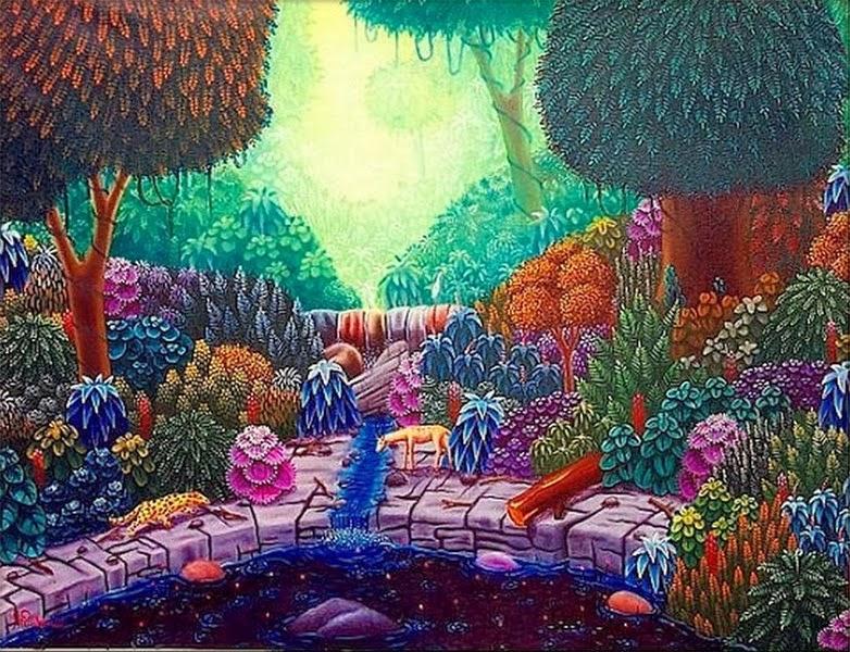 Cuadros modernos pinturas y dibujos cuadros naive - Oleos de jardines ...