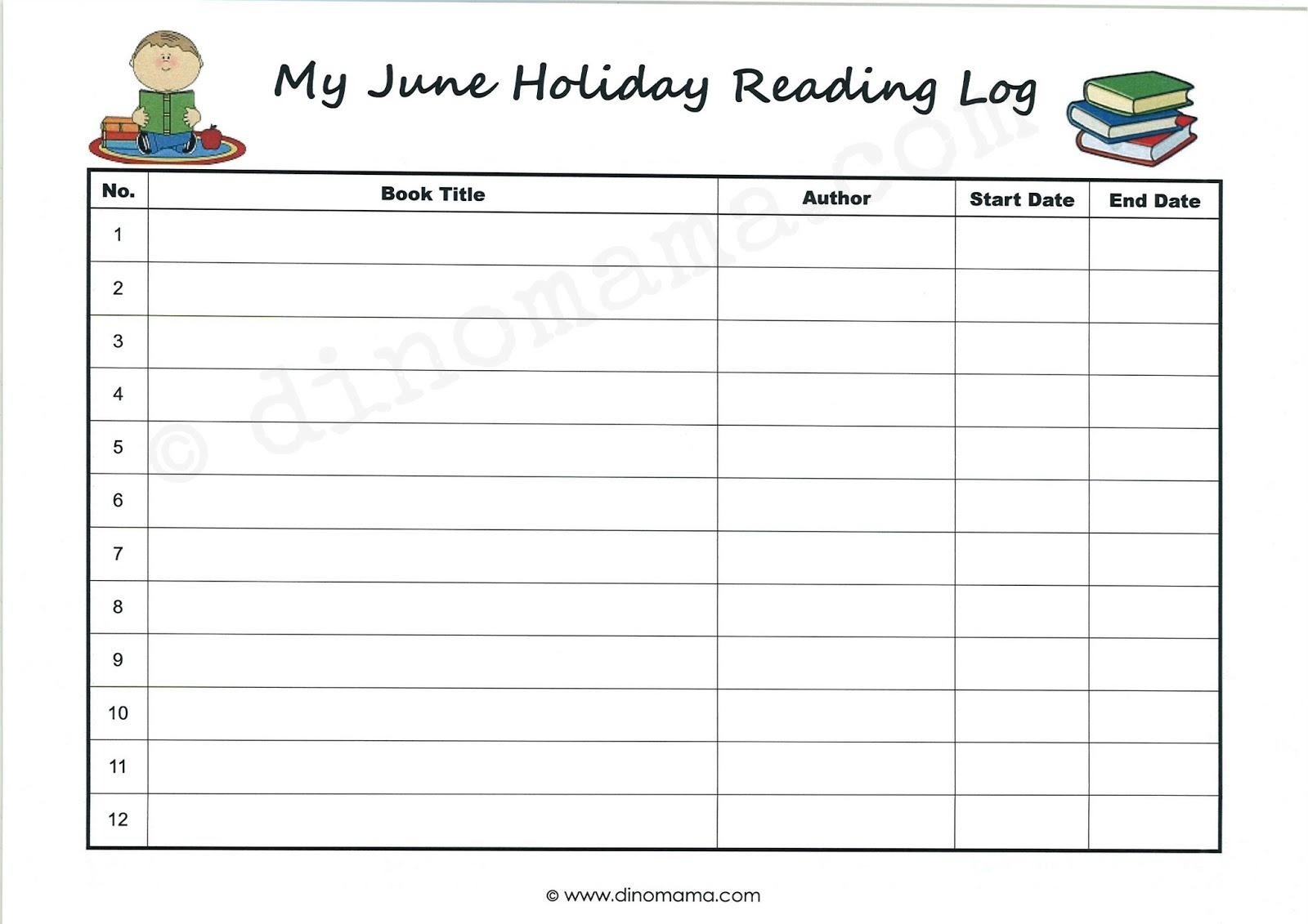 daily reading log template   datariouruguay