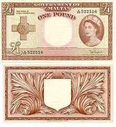 QEII Maltese Pound Note