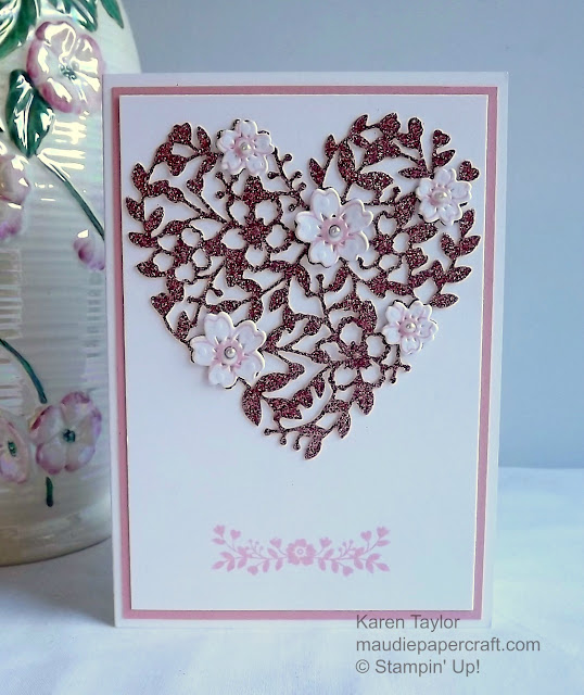 Stampin' Up! Bloomin' Love Valentine card