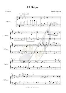 1 Partitura de El Golpe para piano