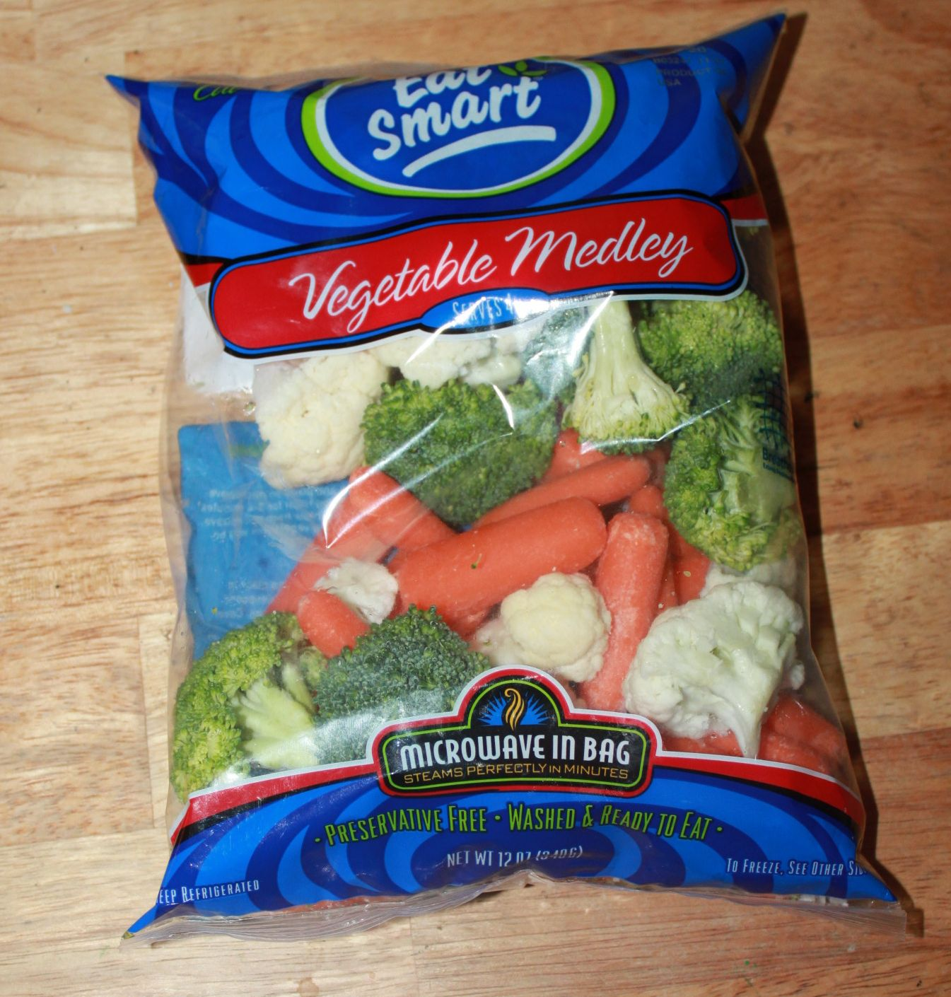 Steamed Vegetables In A Bag