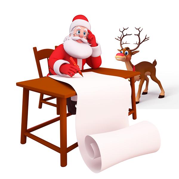 Santa Making the Gift List