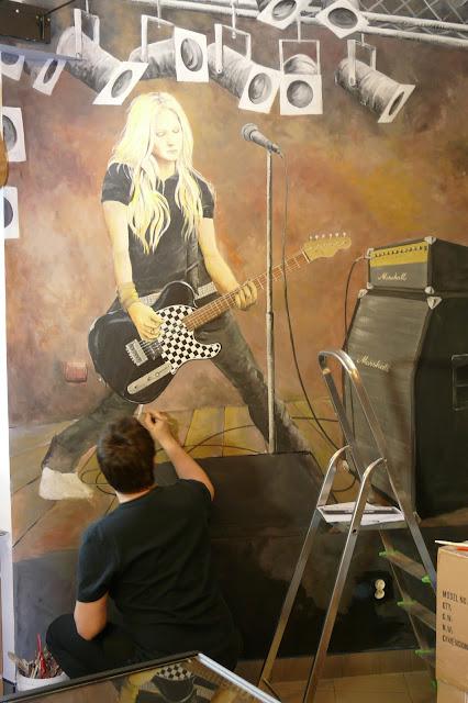 Avril Lavinge, mural ścienny, malowanie obrazu na ścianie
