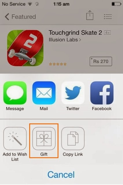 How to Gift an App From Your iPhone or iPad