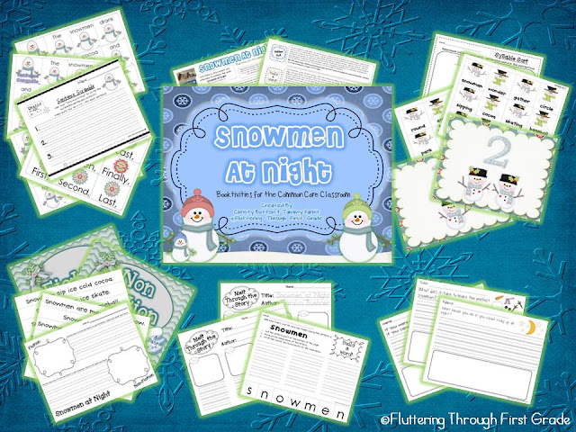 http://www.teacherspayteachers.com/Product/Snowmen-at-Night-Booktivities-for-the-Common-Core-Classroom-462344