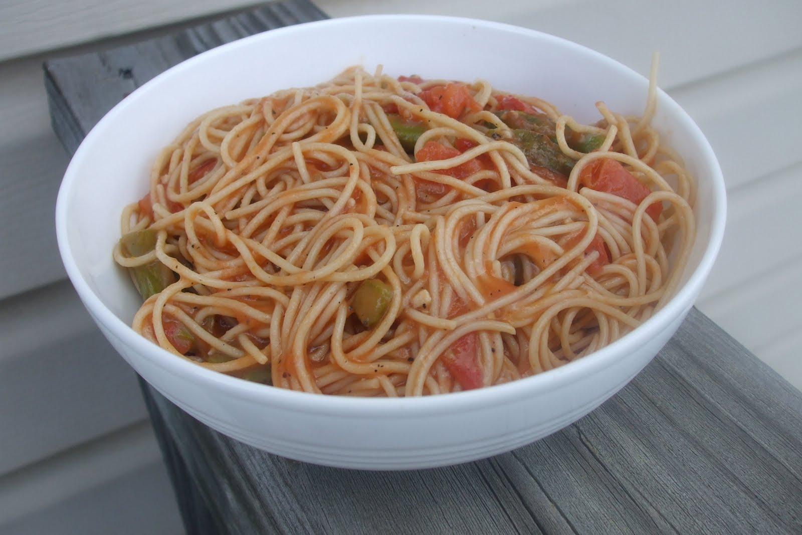 Angel Hair Pasta with Shrimp and Asparagus