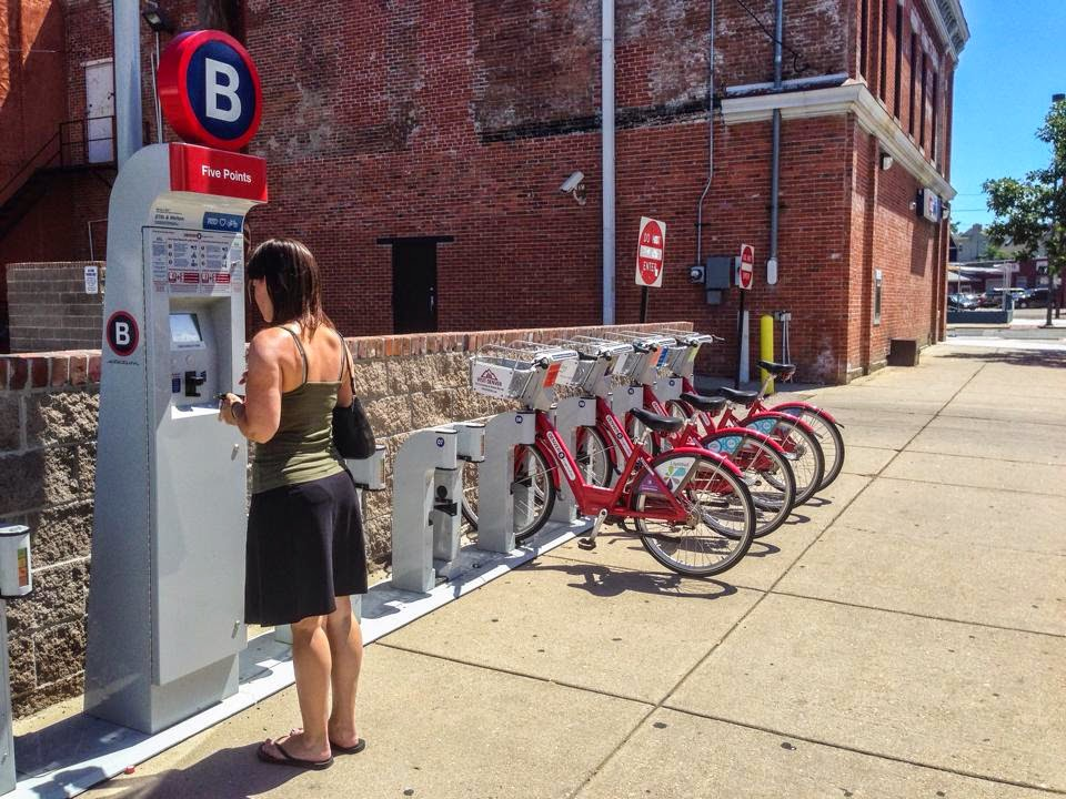 Five Points bike share station