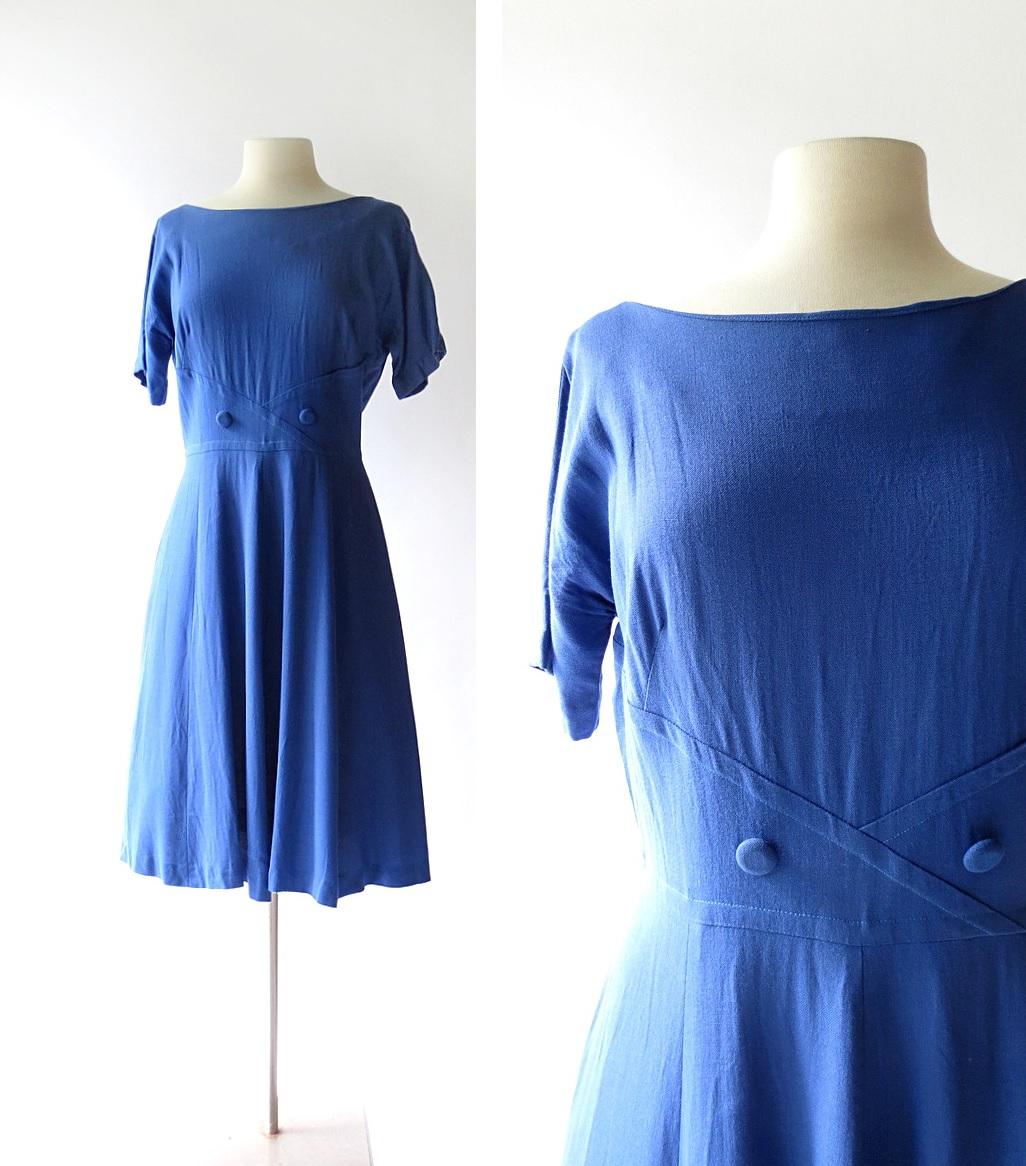 Great blue yonder cocktail dress