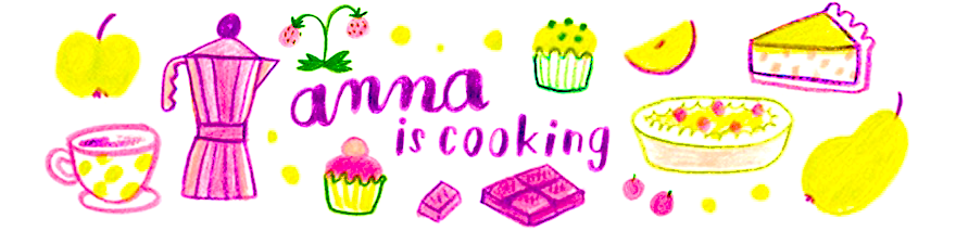 anna is cooking