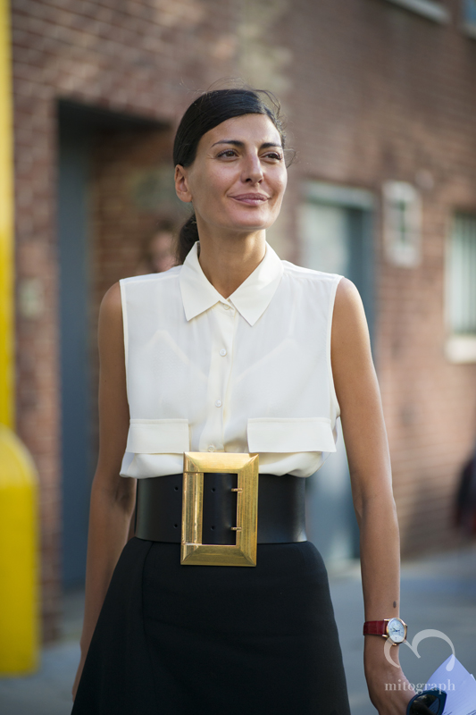 mitograph Giovanna Battaglia After Band Of Outsiders New York Fashion Week 2014 Spring Summer NYFW Street Style Shimpei Mito