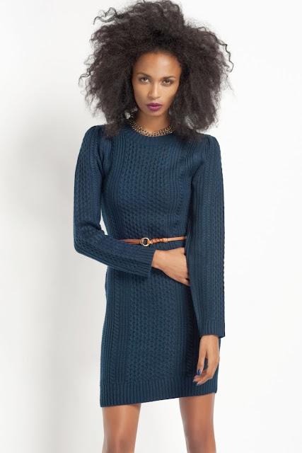mavi renk triko elbise koton 2014