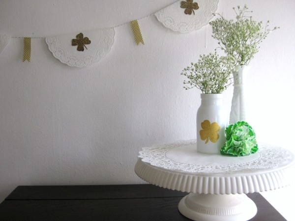 DIY lucky milk glass