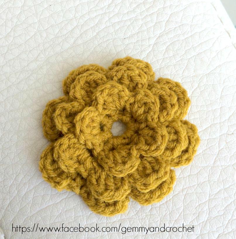 crochet flower, crochet flower accent, flower for embellishment, crochet embellishments