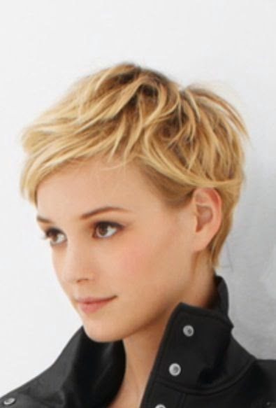 Sexy & cute short messy hairstyle 2015 for blonde hair