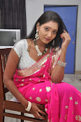 Actress Nisha Latest Photos in Pink saree-thumbnail-6