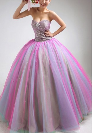 Multi Colored Ball Gowns