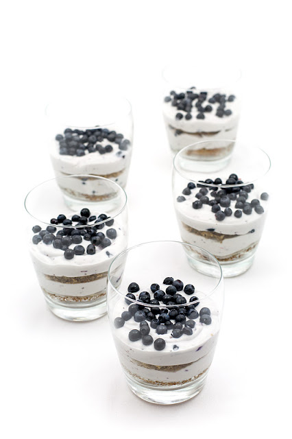 Mini trifle banana bread and blueberries blog recipe shot