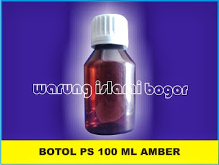Botol Farmasi Coklat Amber PS 100ml
