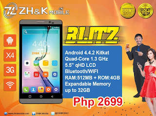ZH&K Mobile Blitz, 5.5-inch Quad Core for Php2,699