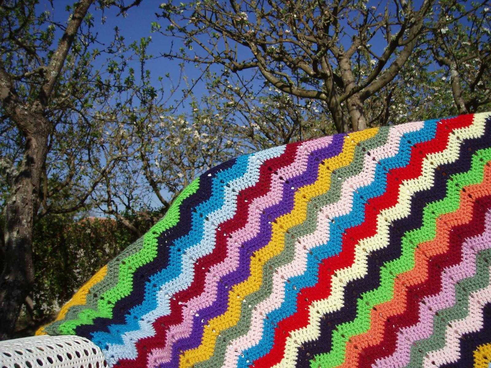 Manta ganchillo zig zag espacio crochet - Punto de ganchillo para mantas ...