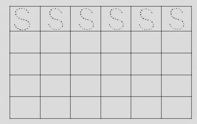 Alfabeto Pontilhado Letra S
