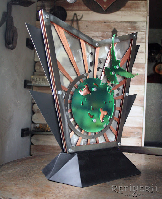 copper steel custom trophy