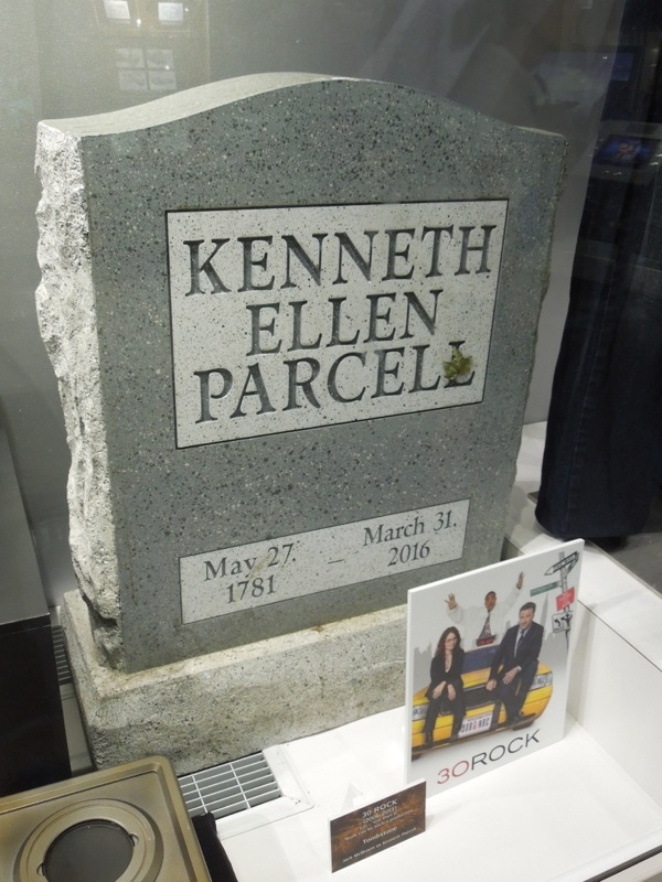 Kenneth Parcel tombstone prop 30 Rock