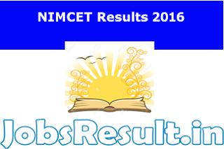 NIMCET Results 2016