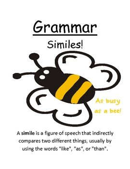 "Fern Smith's Grammar Center Game ""Similes!"""