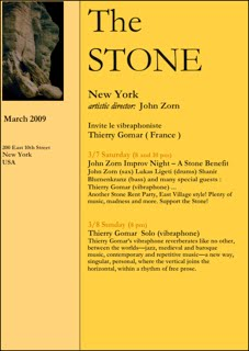 Concert New York  The Stone