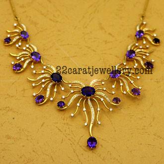 Amethyst Purple Diamond Set Jewellery Designs