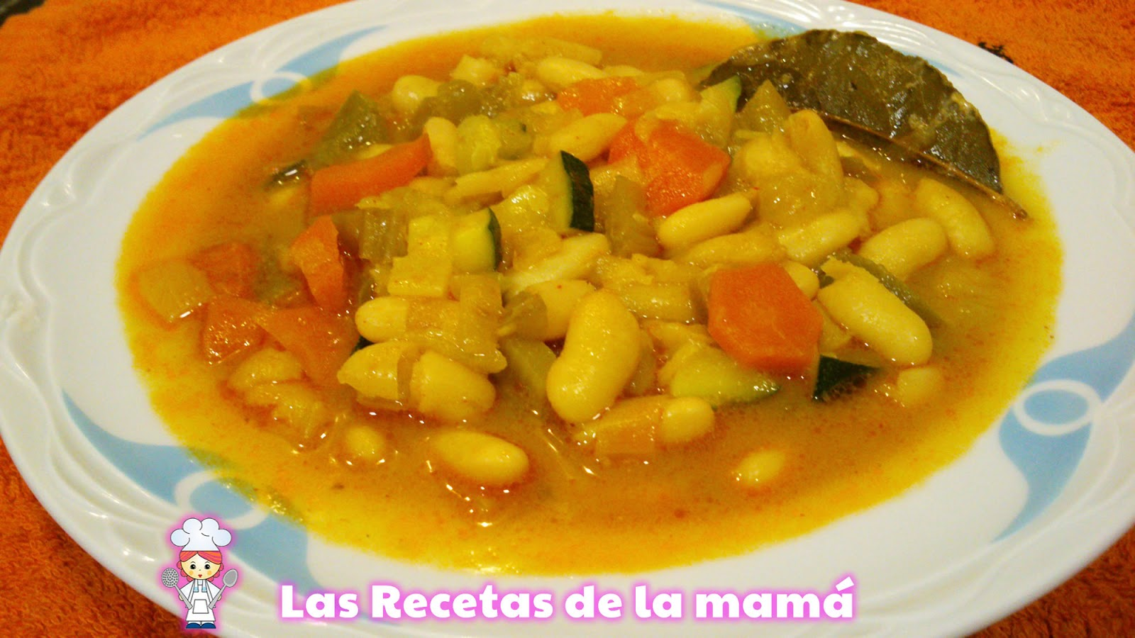 Receta de alubias con verduras - Calorias alubias cocidas ...