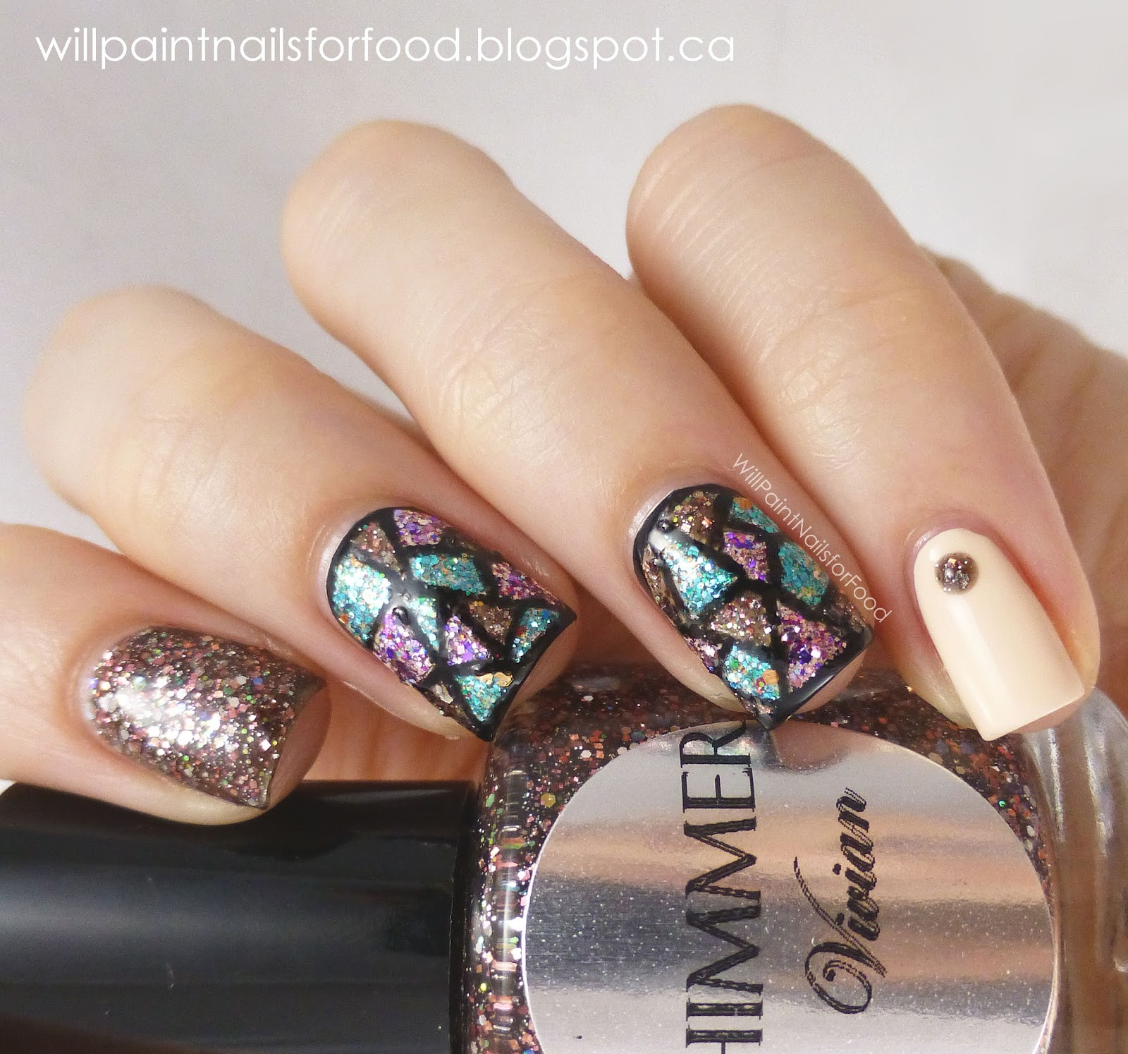 Nail Polish Art On Glass: Will Paint Nails For Food: Shimmer Polish Vivian Stained