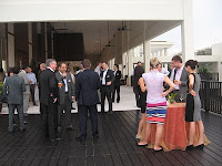 NGT delegates having their cocktail and networking