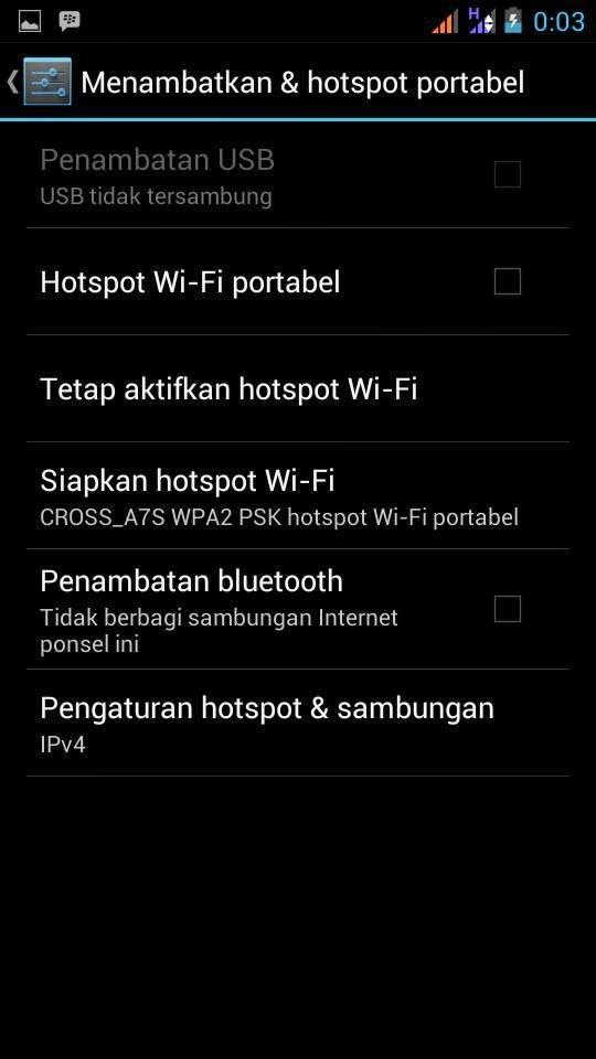 Menjadikan ponsel android menjadi wifi
