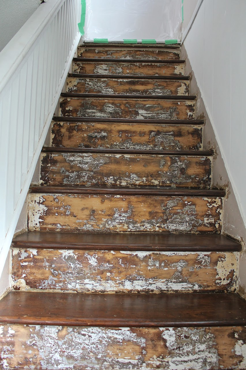 Staining And Painting Wood Stairs A Bit Of Bermuda Sunshine